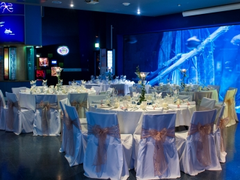 Table set up in Oceans Gallery