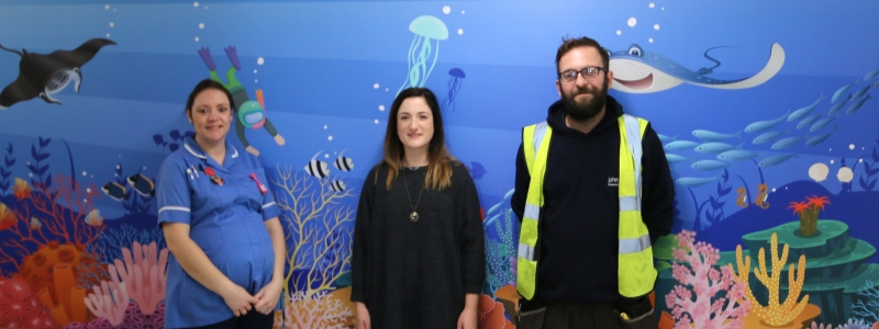 Banner THE DEEP DONATES CHRISTMAS CHEER FOR HOSPITAL CHILDREN'S WARD