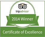 The Deep - Two River Restaurant Certificate of Excellence