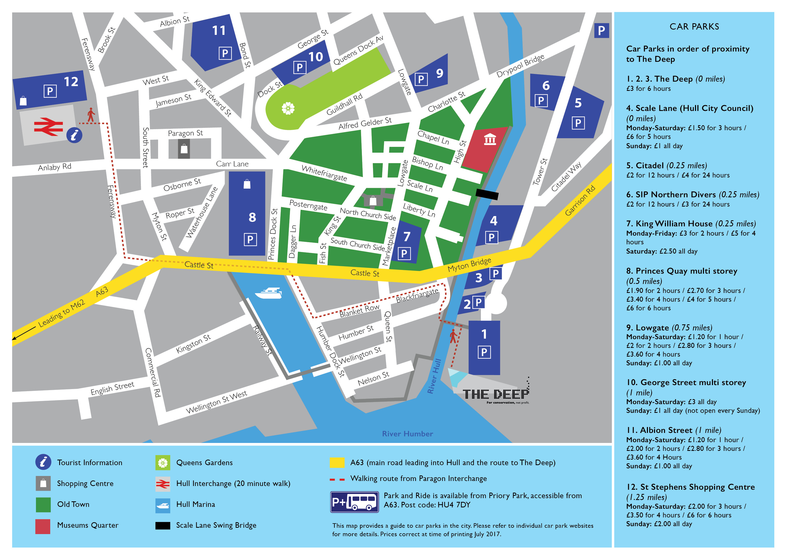 Map Of Hull City Centre Car Parks
